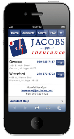 m.jacobsinsurance.com website preview